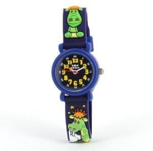 Baby Watch – 756 MPM – Ma Première Montre Dragon – Montre Garçon – Quartz Analogique – Bracelet en Plastique Bleu