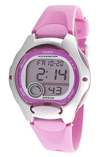 Casio – LW-200-4B – Sports – Montre Femme – Quartz Digital – Cadran LCD – Bracelet Résine Rose