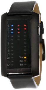 The One – IR202RB1 – Montre Homme – Quartz – Système affichage binaire par Led – Bracelet en Cuir noir
