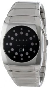The One – LL102R2 – Lightmare – Montre Femme – Quartz Led – Cadran Noir – Bracelet Acier Noir