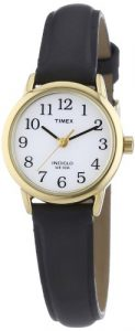Timex -Femme – T20433D7 – Heritage Easy Reader – Quartz Analogique – Blanc – Noir – Cuir