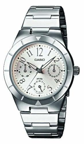 Casio -LTP-2069D-7A2VEF – Montre Femme – Junior – Quartz analogique – Dateur – Bracelet acier