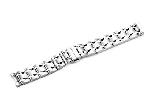 istrap 18mm en acier inoxydable massif Bracelet montre bande déploiement fermoir pour tission T035