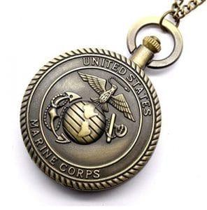 Men's Watch, Men's Marine Corps Pattern Bronze Alloy Quartz Pocket Watch by watches