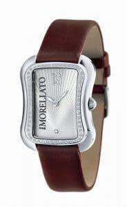 Morellato – S020E008 – Montre Femme – Quartz Analogique – Cristaux de Swarovski – Bracelet Cuir Marron
