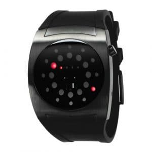 The One – L202R3 – Lightmare – Montre Homme – Quartz Led – Cadran Noir – Bracelet Caoutchouc Noir