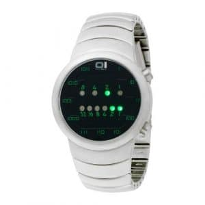 The One – SM102G2 – Samui Moon – Montre Homme – Quartz Led – Cadran Noir – Bracelet Acier