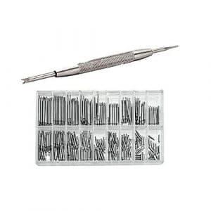 WINOMO Kit de Réparation pour Bracelet de Montre Acier Inoxydable 360pcs 6mm – 23mm(Argent)