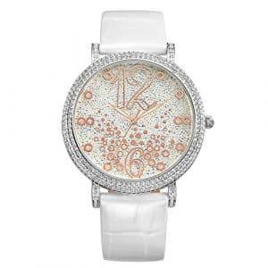 Montre à quartz ladies Fashion diamants imperméable à l'eau , white