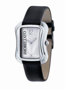 Morellato – S0E010 – Master – Montre Femme – Quartz Analogique – Cadran Argent – Bracelet Cuir Noir