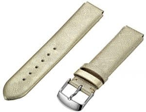 Philip Stein 1-csfg 18mm en cuir vachette or montre sangle