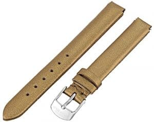 Philip Stein 4-cimdg 12mm en cuir vachette or montre sangle