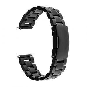 TRUMiRR 20mm Libération Rapide Montre Bande en Acier Inoxydable Bracelet pour Samsung Gear S2 Classic R732 R735, Moto 360 2 42mm Homme, Pebble Time Round 20mm, Bradley Timepiece, Garmin Vivomove