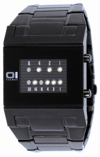 The One – KT202W2 – Montre Homme – Quartz – Système affichage binaire par Led – Bracelet en Acier inoxidable