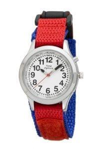 TimeOptics Boy's Talking Tons Argenté Day Date Alarme Fast Wrap Montre Bracelet GWC304