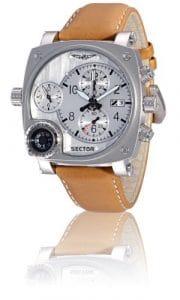 Sector – R3251907015 – Montre Homme – Compass – Chronographe – Boussole – Analogique – Bracelet Cuir