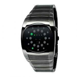 The One – L202G2 – Lightmare – Montre Homme – Quartz Led – Cadran Noir – Bracelet Métal Gris