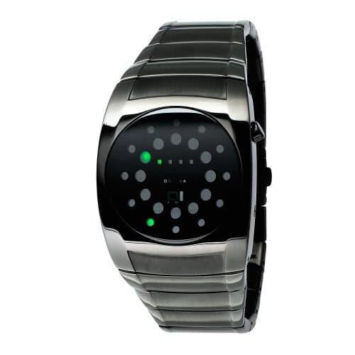 The One – L202G2 – Lightmare – Montre Homme – Quartz Led – Cadran Noir – Bracelet Métal Gris