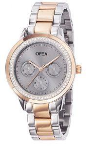 Opex – X4024MA1 – Twentynine – Montre Femme – Quartz Analogique – Cadran Gris – Bracelet Acier Bicolore