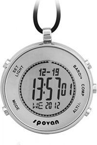 Spovan Sport De plein air Altimètre Baromètre Boussole Multifonction Chronographe Digital Montre de Poche
