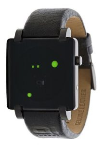 The One – GRQ213G1 – Gamma Ray – Montre Homme – Quartz Led – Cadran Noir – Bracelet Cuir Noir