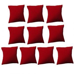 Présentoirs bijoux Taie d'oreiller, Coussin de velours Bracelet de montre Bijoux Présentoir Showcase pour maison, bureau & # nitrure; 10Noir et rouge), Velours, Red, Small