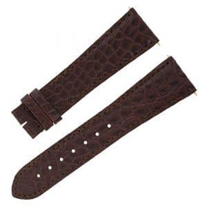 Cartier kd4pbw2523–18mm bracelet marron en cuir véritable alligator