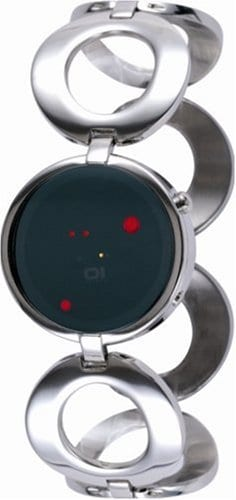 The One – ORL113R2 – Montre Femme – Quartz – Système affichage binaire par Led – Bracelet Acier