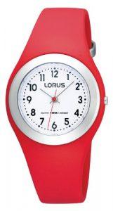 Lorus – R2301GX9 – Montre Fille – Quartz Analogique – Bracelet Caoutchouc Rouge