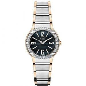 Piaget Femme 32mm Bracelet Or Blanc Boitier Or Rose Quartz Montre G0A36232