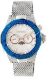 Sea Wizard Stainless Steel Case and Mesh Bracelet Silver Tone Dial Blue Tone Bezel