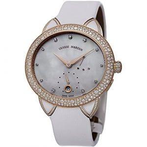 Ulysse Nardin Femme 36mm Bracelet Tissu Automatique Montre 3106-125BC/991