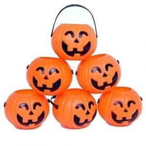 SODIAL(R) Support de bonbons a citrouille 12 Mini godet de bonbons Trucs ou Traitements de Halloween: orange
