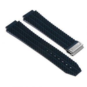 StrapsCo Bracelet 26mm en Caoutchouc de Silicone pour Hublot Big Bang avec un Fermoir en Acier Inoxydable Brossé