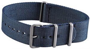 Nylon Bracelet de Montre bracelet de montre bracelet de montre bracelet de rechange Bleu 842030000022Chevalet Largeur 22mm