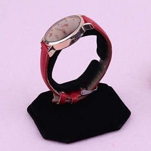 Peluches C Type de Motif Bracelet de montre Bijoux Affichage de support, noir