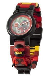Montre figurine Kai de LEGO Ninjago 8021117 les Mains du Temps pour enfant à construire | rouge/noir |plastique |diamètre du cadran 28 mm |à quartz analogique | garçon/fille |produit officiel