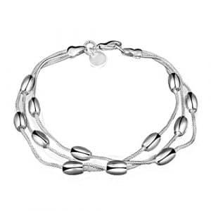 Szhaiyu Bijoux Bracelet charm Ellipse en forme de perles pour fête Femme adolescents Filles cadeaux de Noël Mode et Élégance