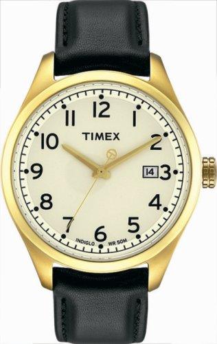 Timex – T2M460 PF – Timex T-Series – Quartz analogique – Montre Homme – Bracelet en Cuir noir