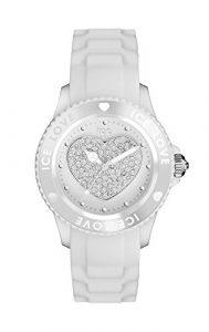 Ice-Watch – ICE love 2010 White – Montre blanche pour femme avec bracelet en silicone – 013736 (Medium)