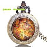 Peter Pan montre de collier, pendentif Neverland montre, livre, Littéraires, cadeaux, Fairy Tales, bijoux, littérature, Littéraires, Once Upon A Time montre