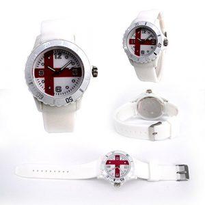 Drapeau motif 2018Football Mondial Coupe de quartz montre de silicone souple confortable Unisexe Mode Sport Montres de pulsera-países de tout le monde Angleterre