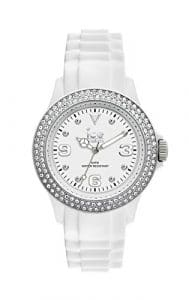 Ice-Watch – ICE star White Silver – Montre blanche pour femme avec bracelet en silicone – 013745 (Large)