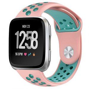 PUGO TOP Fitbit Versa Bracelet de montre, souple en silicone de remplacement Bracelet sport et bracelet réglable pour Fitbit Versa Smart Fitness montre