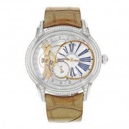 Audemars Piguet Millenary 77247bc. Zz. A813cr. 01Or blanc 18K montre à remontage manuel