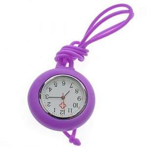 GYwink Pure Couleur infirmière Lanière montre infirmière Gel de silice Collier Corde montre montre de poche, Silicone, violet, 62*4.1*1.02cm