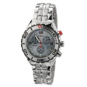 Timex – T2M760 AU – Montre Homme Acier – Timex Sport Luxury – Quartz Analogique – Cadran Argent – Bracelet Acier