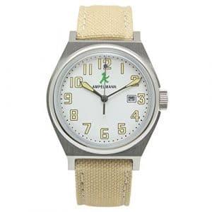[Ampelm? Nnchen] Ampelmann montre fabriqué au Japon Unisexe à quartz rond Blanc visage Asc-4979–03