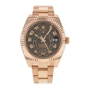 Rolex sky-dweller 326935ch 18K Or Everose automatique montre pour hommes