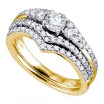 Sonia Jewels 14k Or jaune Forme ronde H-I Diamant blanc